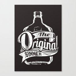 The original sinner Canvas Print