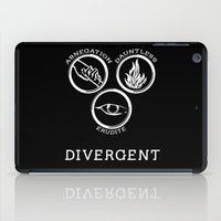 divergent iPad Cases featuring Divergent (White) by Lunil