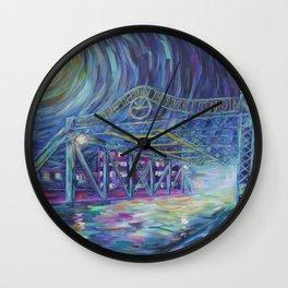 Riverside Bridge Wall Clock