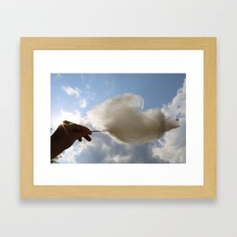 Sugar Cloud Framed Art Print