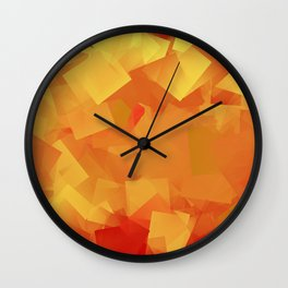 Cubism in orange Wall Clock