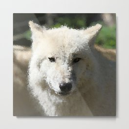 Poly Animals - Wolf Metal Print