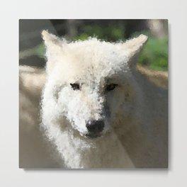 Poly Animals - Wolf Metal Print