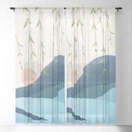 Morning Bloom 03 Sheer Curtain