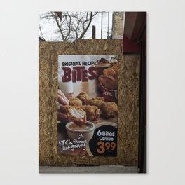 Untitled, Bites Canvas Print