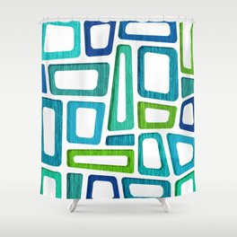 Mid Century Boxy Abstract Shower Curtain
