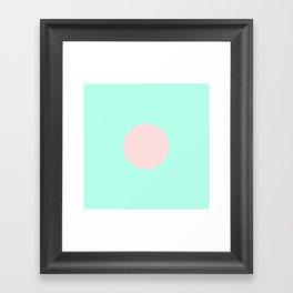 Polka Dot in Pink and Seafoam Framed Art Print