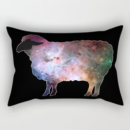 Psychedelic Sheep of the Family (3) Rectangular Pillow
