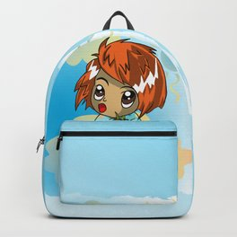 Cute ginger haired baby with a carrot Backpack