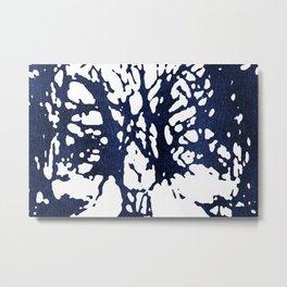 Metallic Indigo Abstract I Metal Print