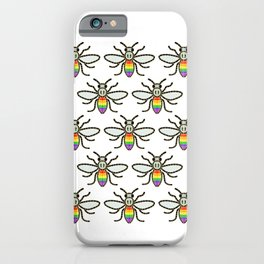 Pride Bees GAY PRIDE MANCHESTER BEE RAINBOW BEE iPhone Case