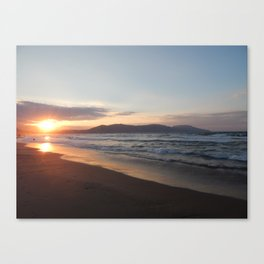 Travel in Greece on the island of Crete mountains and the sea Canvas Print