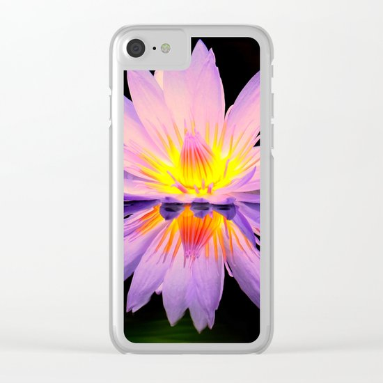 Bright lilly reflection Clear iPhone Case