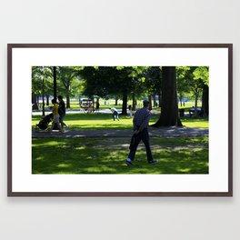 Boston Common Street Photography Framed Art Print