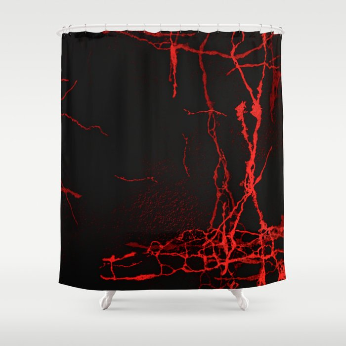 Horror -Dark Red- Shower Curtain by lematworks   Society6