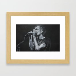 Matt Healy Portrait Framed Art Print