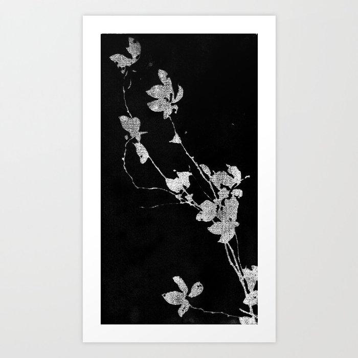 Diagonal  Floral Art Print