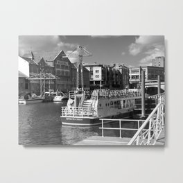 Pleasure boats on the York river Ouse. Metal Print