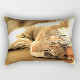Sleepy Kitty Pretty Kitty Rectangular Pillow