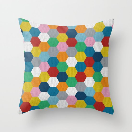 Honeycomb 3 Throw Pillow