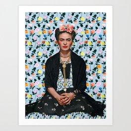 Flowers Frida Kahlo IV Art Print