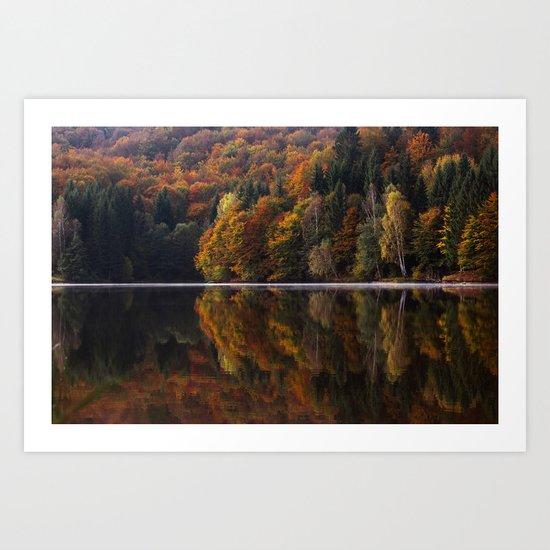 Autumn Lake Art Print