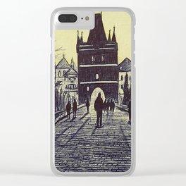 Charles Bridge, Prague Clear iPhone Case