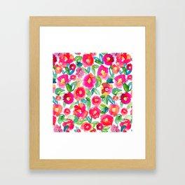 Hot Floral Mess Framed Art Print