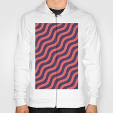 Abstract geometric wave pattern Hoody