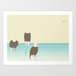 Bald Eagles Art Print