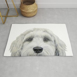 Labradoodle white by miart Rug