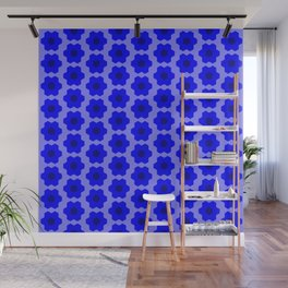 Floral No. 2 -- Blue Wall Mural