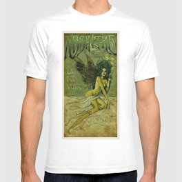 Vintage Parisian Green Fairy Absinthe Alcoholic Aperitif Advertisement Poster T-shirt