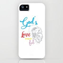 God's love bible jesus loves god religion crusader Mission Sign iPhone Case