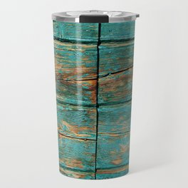 Rustic Teal Boards (Color) Travel Mug
