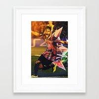 neymar Framed Art Prints featuring Neymar by Max Hopmans / FootWalls