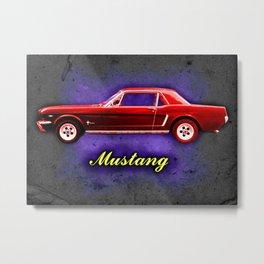 Vintage Mustang Metal Print
