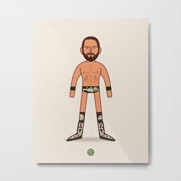 Johnny Wrestling - Pro Wrestling Illustration Metal Print