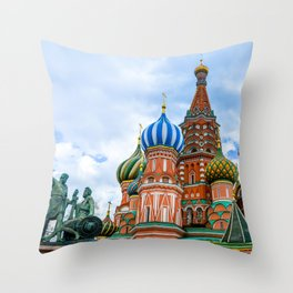 Saint Basil's Cathedral (Red Square in Moscow) Throw Pillow