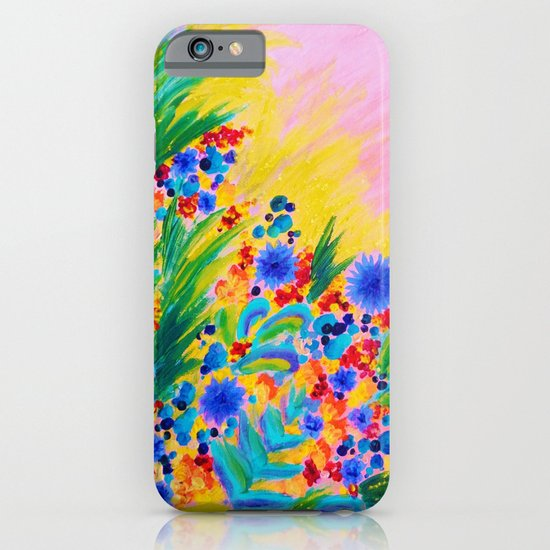 NATURAL ROMANCE in PINK - October Floral Garden Sweet Feminine Colorful Rainbow Flowers Painting iPhone & iPod Case