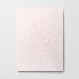 Spacey Melange - White and Light Pink Metal Print