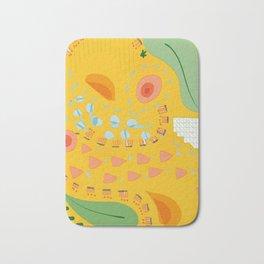 Yellow sunshine darling   Home decor   Happy art Bath Mat