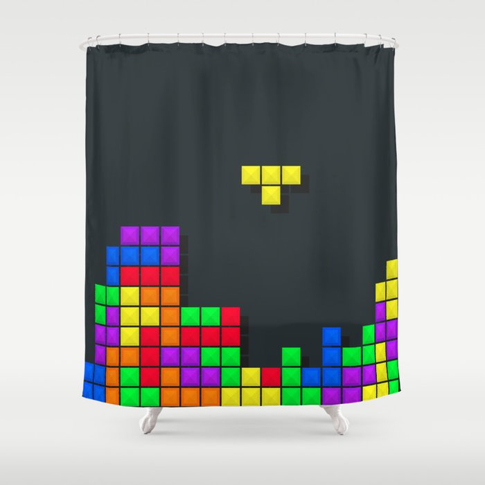 Tetris print design Shower Curtain