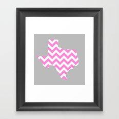 TEXAS {PINK} Framed Art Print
