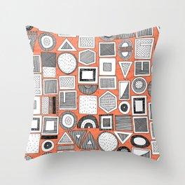 frisson memphis bw orange Throw Pillow