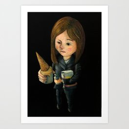 Hello Melted Coffee Ice Cream Art Print