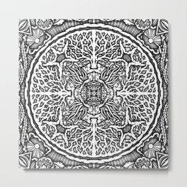 Mandala Ocean Metal Print