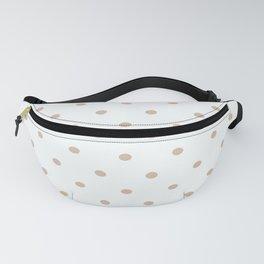 Polka Dots Pattern Creamy Grayish White and Grayish Orange Fanny Pack