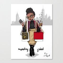 Monday Grind Canvas Print