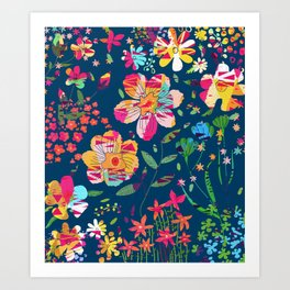 Paper Floral Art Print